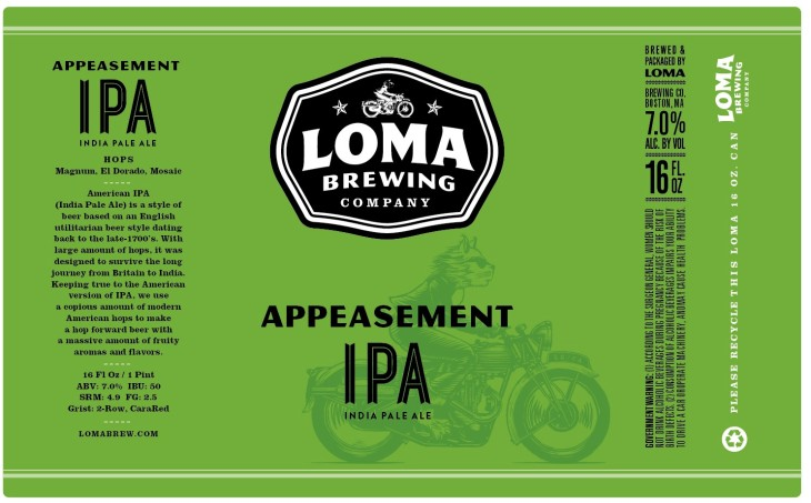 Loma Appeasement IPA label