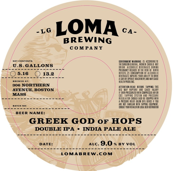 Loma Greek God of Hops keg collar